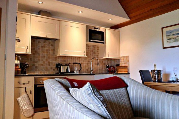 kitchen, seating area